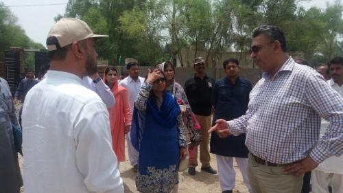 MD's Visit to Ghotki Schools